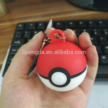 Pokemon Go Keychain Poke Ball Rotatable Key Rings Holder Gift Chaveiro Car Key Chain Jewelry Game Souvenir