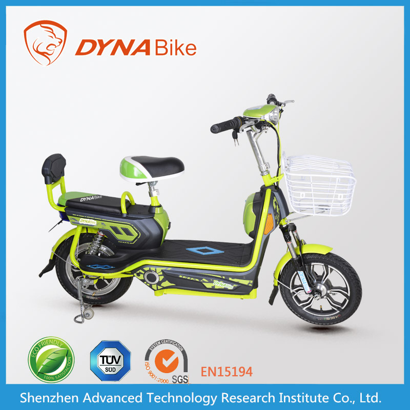 48v 350w colorful brushless motor adult two wheel electric hybrib bikes for sale with basket