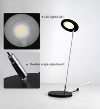 CE RoHS PSE stainless steel press botton switch modern flexible dimmable eye-care led desk lamp
