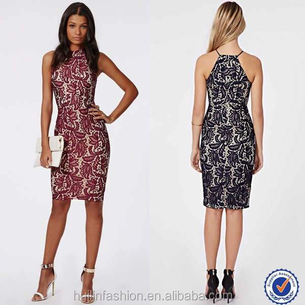Fashion women latest lace bodycon dress factory direct clothing wholesale