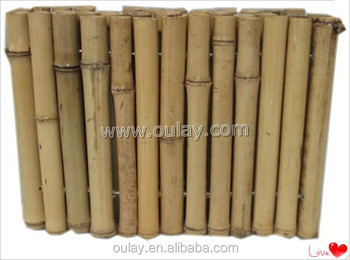 cheap natural small bamboo fencing roll