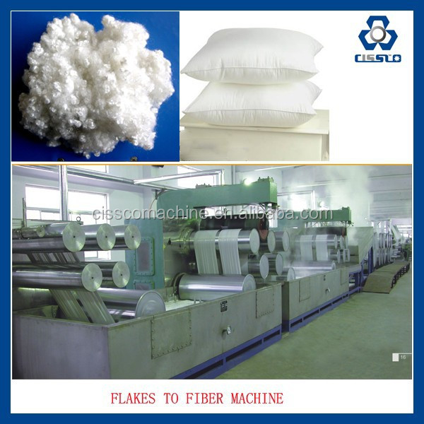 PET BOTTLES RECYCLE POLYESTER STAPLE FIBER EXTRUDER LINE, HOLLOW CONJUGATED POLYESTER STAPLE FIBER MAKING MACHINE