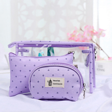 Popular personalized thailand cashew print canvas cosmetic bag