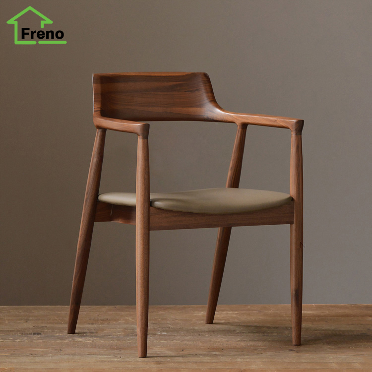 FN-5502 classic design armrest comfort wooden dining chairs