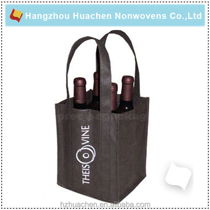 2016 New High quality New Style Non-woven Wine Carry Bag