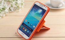 Unique Flexible Flip Stand PU Leather Phone Case For Samsung galaxy s4