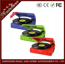 Colorful gramophone 3 speed lp turntable vinyl records