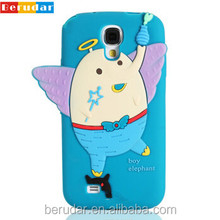 China wholesale funny cartoon silicone phone case for samsung galaxy s4