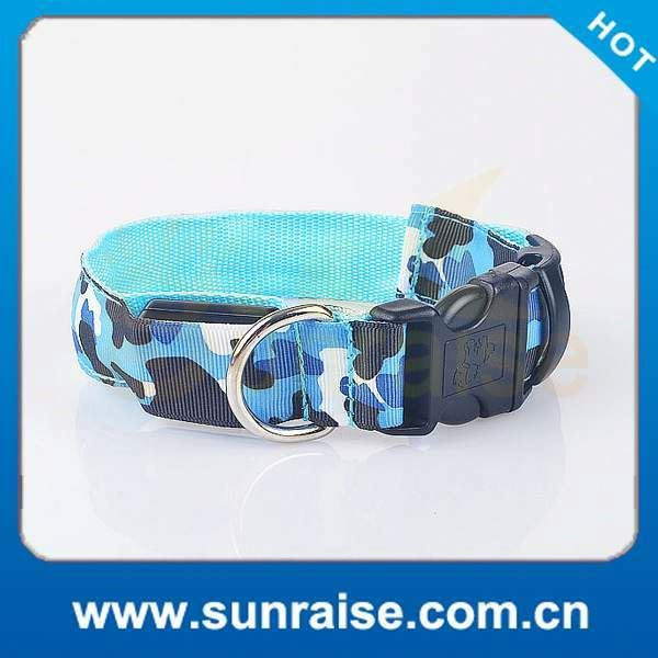 High Quality Night Safety Nylon solar energy and with usb charging led dog collar