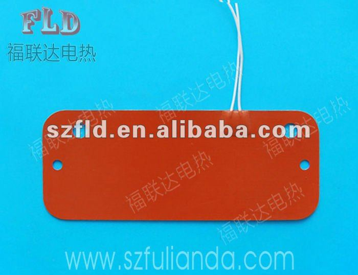 Customize CE ROHS UL approve silicone rubber heated bed