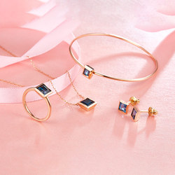 Sapphire gem stone jewelry set+dubai 18 carat gold jewelry sets