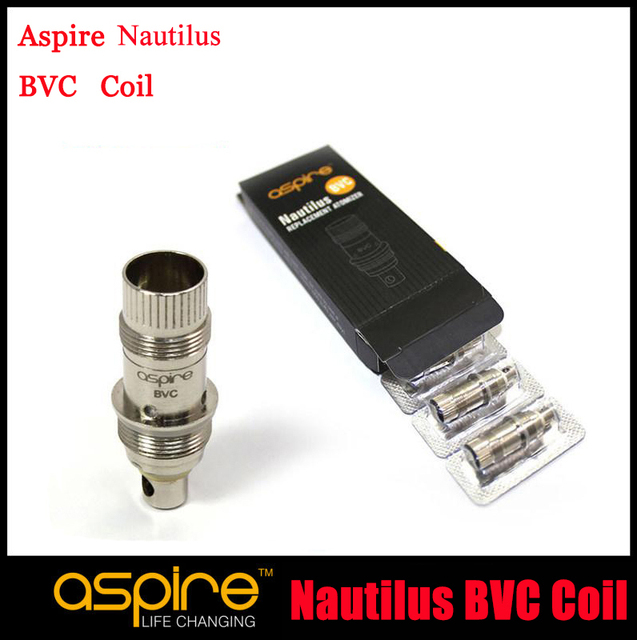 10pc/lot Genuine Aspire Nautilus BVC Coil New Aspire Nautilus Bottom Vertical Coil Aspire BVC coil  1.8 1.6ohm For Mini Nautilus