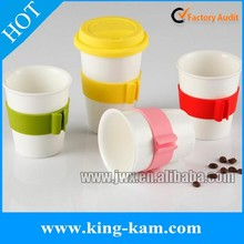 silicone rubber drinking cup sleeve /hot sale heat resistance silicone cup