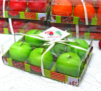 Wholesale Creative Decoration Models/Candles fruit apple shape scented Candle