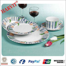 Home Decor 20pcs Tableware Fine Porcelain Round Dinnerware Sets from China