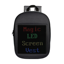 Screen Dynamic LED Backpack Propaganda Advertising Custom Text School Express Comfortable DIY Mobile Phone APP LED Space