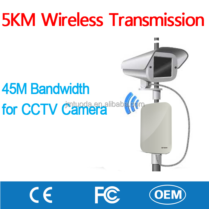 Indoor Outdoor Security 5km Long Range Monitoring Wireless Wifi Atheros POE RJ45 Bridge for ip Camera