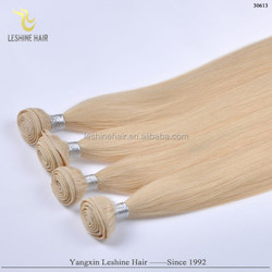 2015 Hot Arrival New Products Wholesale Bulk Remy human hair weft color 613 rock