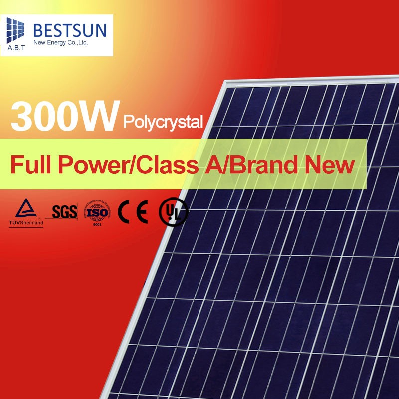 China High Efficiency Light Weight 280W Poly Solar Panel With Alloy Frame 300W Polycrystalline Solar Panel