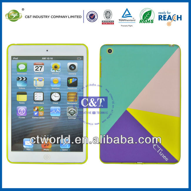C&T TPU cover for smart case ipad mini,for ipad mini cover