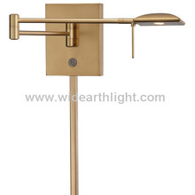 UL CUL Listed Antique Brass Metal Wall Light With Adjustable Swing Arm For Kitchen Or Study W80764
