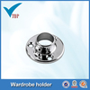 Steel chrome pipe flange for wardrobe hanger VT-10.010A