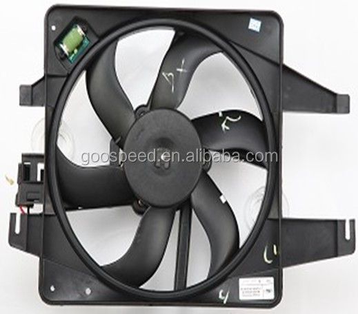 Radiator fan with Crued Blade for Ford fiesta(new)