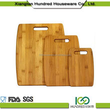 100% Food Grade Anti-Bacterial Natural Home Kitchen Wooden Chopping Blocks 3 PCS Bamboo Cutting Boards