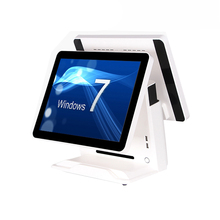 Pos System Dual Screen All-In-One Touch Terminal 15 Inch Double Monitor Computer Cashier Register