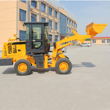 Hydraulic small garden tractor with front-end loader
