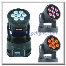HOT 7 pcs 4 in 1 RGBW 10w led wash dmx moving head light lyre led 7x10w