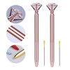 Crystal Pen with gift box case Big carat diamond Ballpoint pen ring Lady wedding office school roller ball pen Rose gold