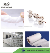 Lint-free Soft Cotton Fabric Spunlace Nonwoven for Medical/Beauty/Hygiene