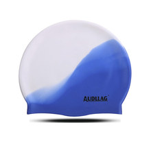 Double Color Waterproof Silicone Fashionable Swimming Hat