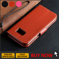 Top quality credit card holder leather case for samsung galaxy s7 flip wallet case