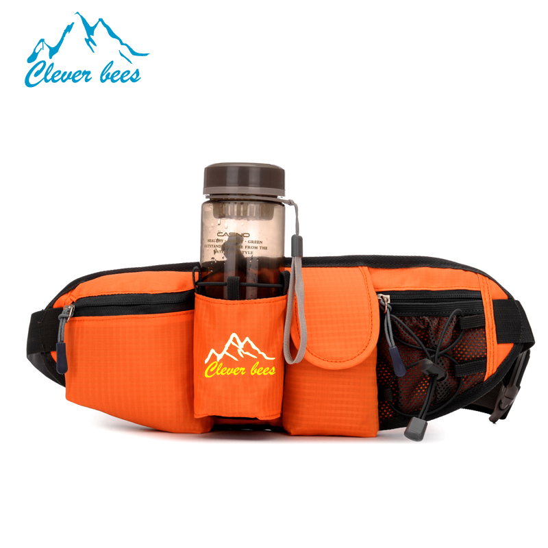 A Bag With Water Bottle Holder mobile phone gym sports waist bags