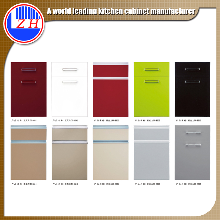 High gloss ready made kitchen cabinet door
