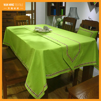 National Style Vintage Embroidery Designs Rectangle Dining Home Decor Cloth ethnic tablecloth