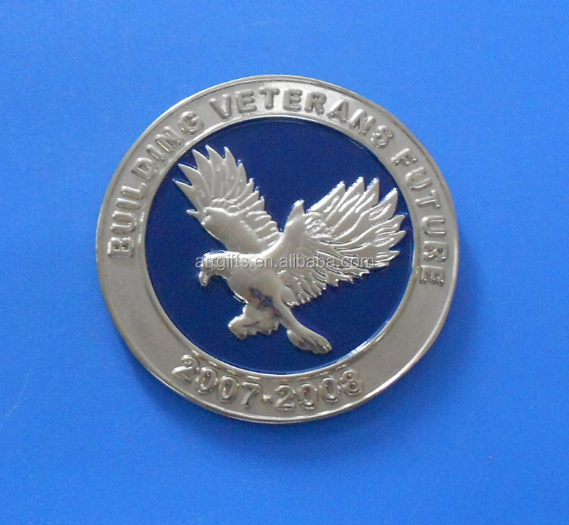 3d USA American eagle embossed challenge coin for collection