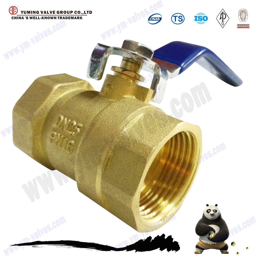 Electric motorized 600 wog cw617n brass Threaded ball valve with lock water meter