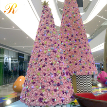 Indoor /Outdoor high 6m big PVC artificial giant led christmas tree for steet decoration
