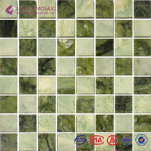 Beautiful Green Marble Mosaic Tiles for Living Room Wall Tiles/TV Background/Hotel Projects