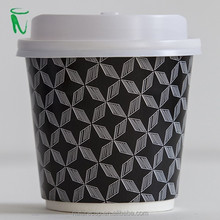 double wall disposable paper cup printed hot coffee cup with lids 8oz 320ml