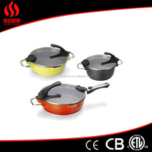 Ceramic Non Stick Fry Pan Set Eco Friendly Frying Induction Cookware