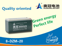 8-dzm-20 Escooter battery 16V20Ah rechargeable sealed lead acid E-bike / escooter battery
