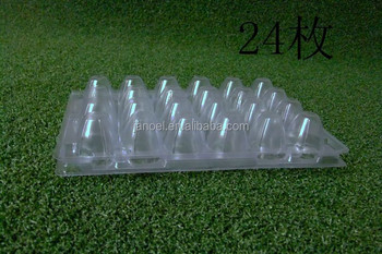 24pcs quail products quail egg packing clear pastic tray
