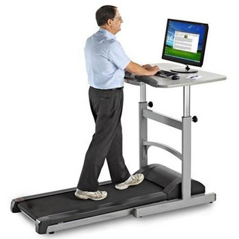 GS-650-1 New Design PATENT Indoor Under Desk Motorized Treadmill With Desk