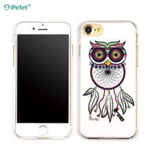 Custom Design Printing Clear TPU Phone Cases For iPhone 7 Dream Catcher Back Cover