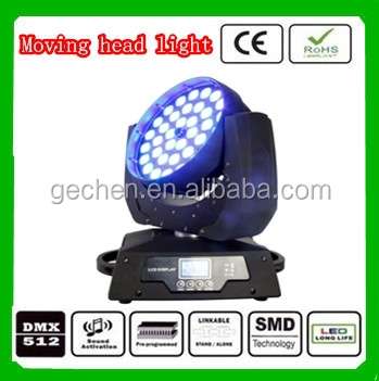 36*10w rgbw zoom LED Moving head light disco lighting with good effect