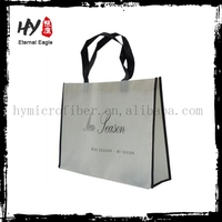 Plastic recycled printing shopping bag, nonwoven polypropylene bag, large woven shopping bags made in China